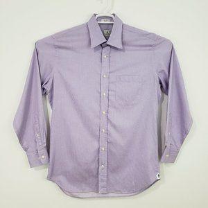 PETER MILLAR Purple Check Button Down Shirt 16/L